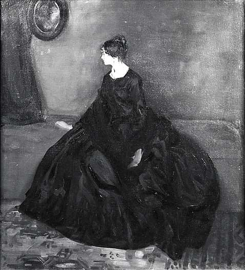 Woman in Black, (painting), Oil On Canvas by Alfred Henry Maurer (1868-1932, United States)