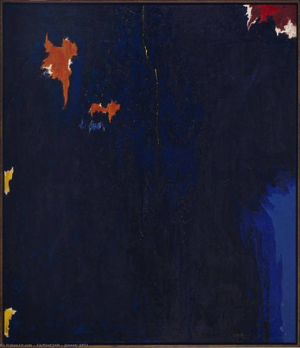 January 1951, Oil On Canvas by Clyfford Still (1904-1980, United States)