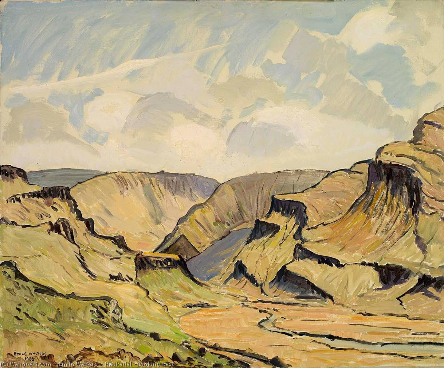 Order Museum Quality Reproductions : Haukadal (Looking East), 1955 by Emile Walters | WahooArt.com
