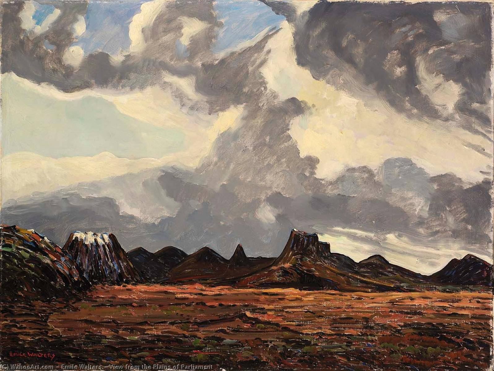View from the Plains of Parliament, 1955 by Emile Walters | Famous Paintings Reproductions | WahooArt.com