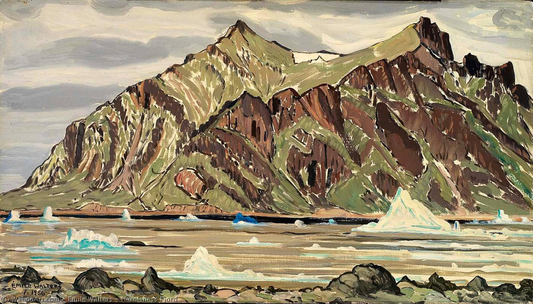 Herolsness Fjord, 1956 by Emile Walters | Oil Painting | WahooArt.com