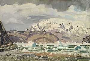 Emile Walters - Erics Fjord (Glacier Ice in Summer)
