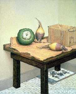 Gregory Gillespie - Still Life With Squash And Rutabagas