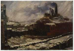 John Sloan - Ferry Slip, Winter