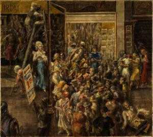 Reginald Marsh - In Fourteenth Street