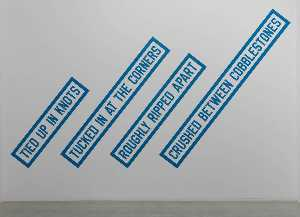 Lawrence Weiner - CRUSHED BETWEEN COBBLESTONES
