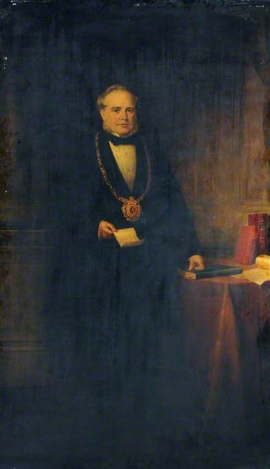 John Brown (1816–1896), Mayor of Sheffield (1861–1863), Oil On Canvas by Richard Smith