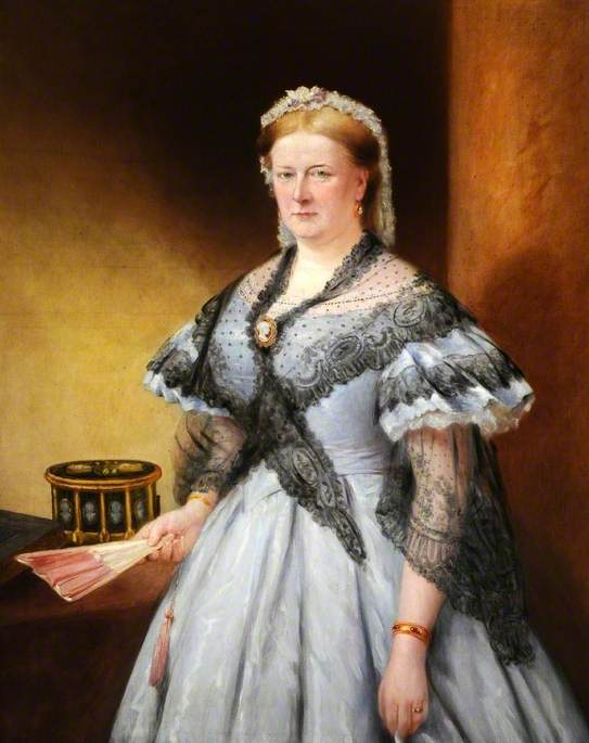 Lady Brown (1813–1881), Wife of Sir John Brown, Oil On Canvas by Richard Smith