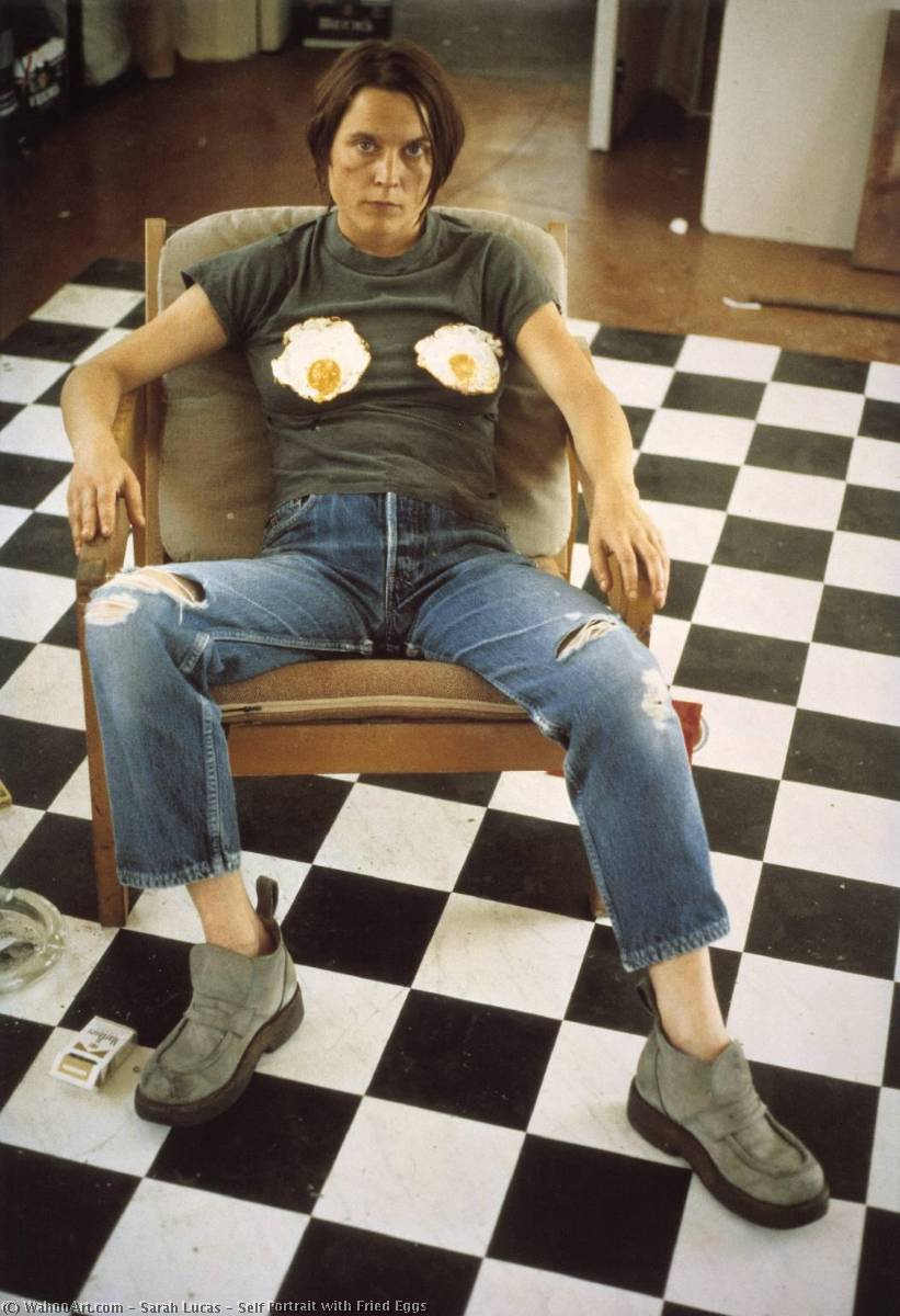 Self Portrait with Fried Eggs, 1996 by Sarah Lucas |  | WahooArt.com