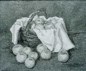 Walt Kuhn - Green Apples, White Cloth, and Basket