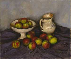 Walt Kuhn - Still Life with Apples and Pitcher