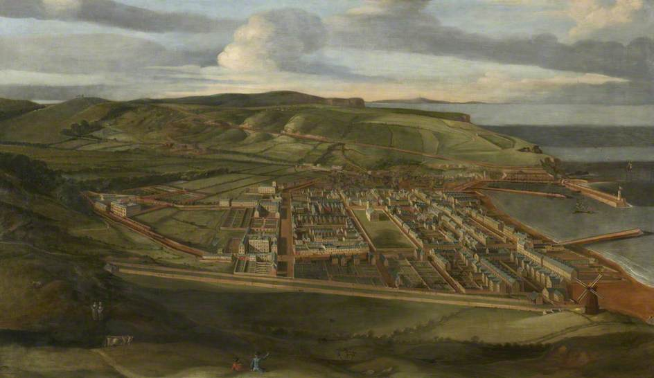 A Bird's Eye View of Whitehaven, Oil On Canvas by Matthias Read