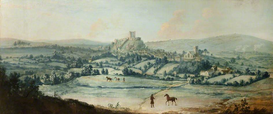 Distant View of Clitheroe, Oil On Canvas by Matthias Read