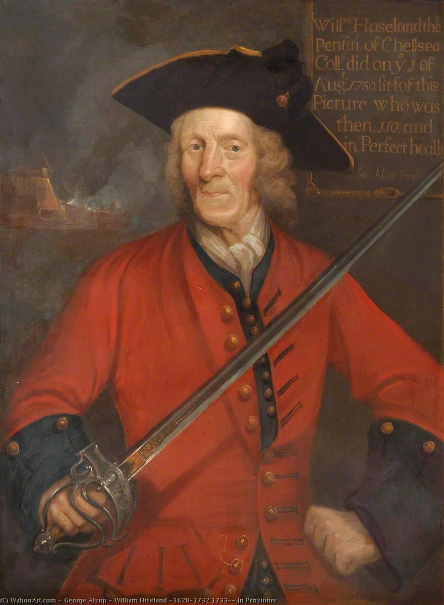 William Hiseland (1620–1732 1733), In Pensioner, 1730 by George Alsop | WahooArt.com