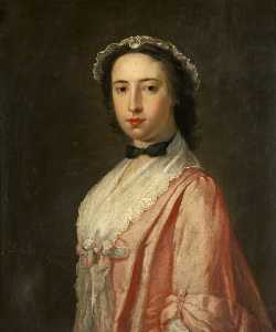 William Denune - Portrait of a Lady (said to be Barbara Haliburton, Wife of Walter Scott and Grandmother of Sir Walter Scott)