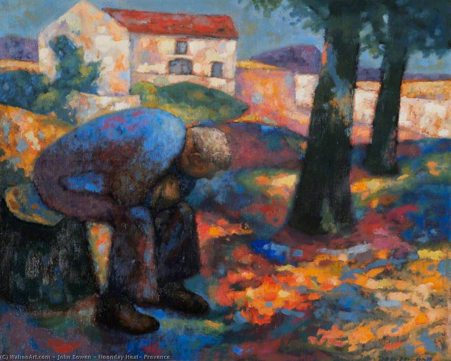Noonday Heat, Provence, 1998 by John Bowen | Painting Copy | WahooArt.com