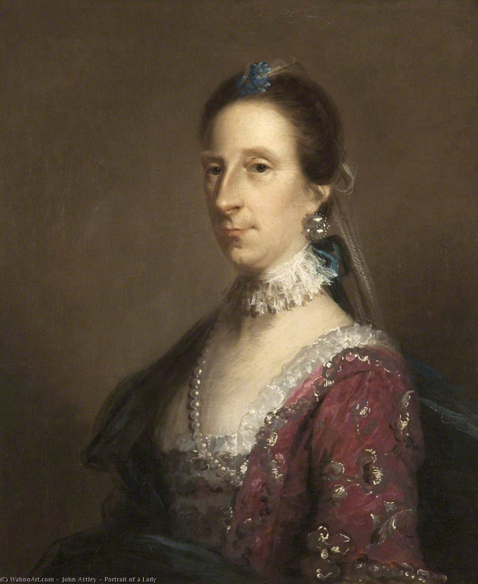 Portrait of a Lady, Oil On Canvas by John Astley