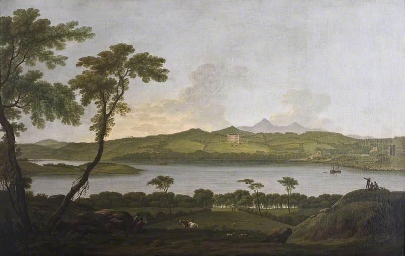 Order Museum Quality Reproductions : Castle Ward from Portaferry, 1790 by Jonathan Fisher | WahooArt.com