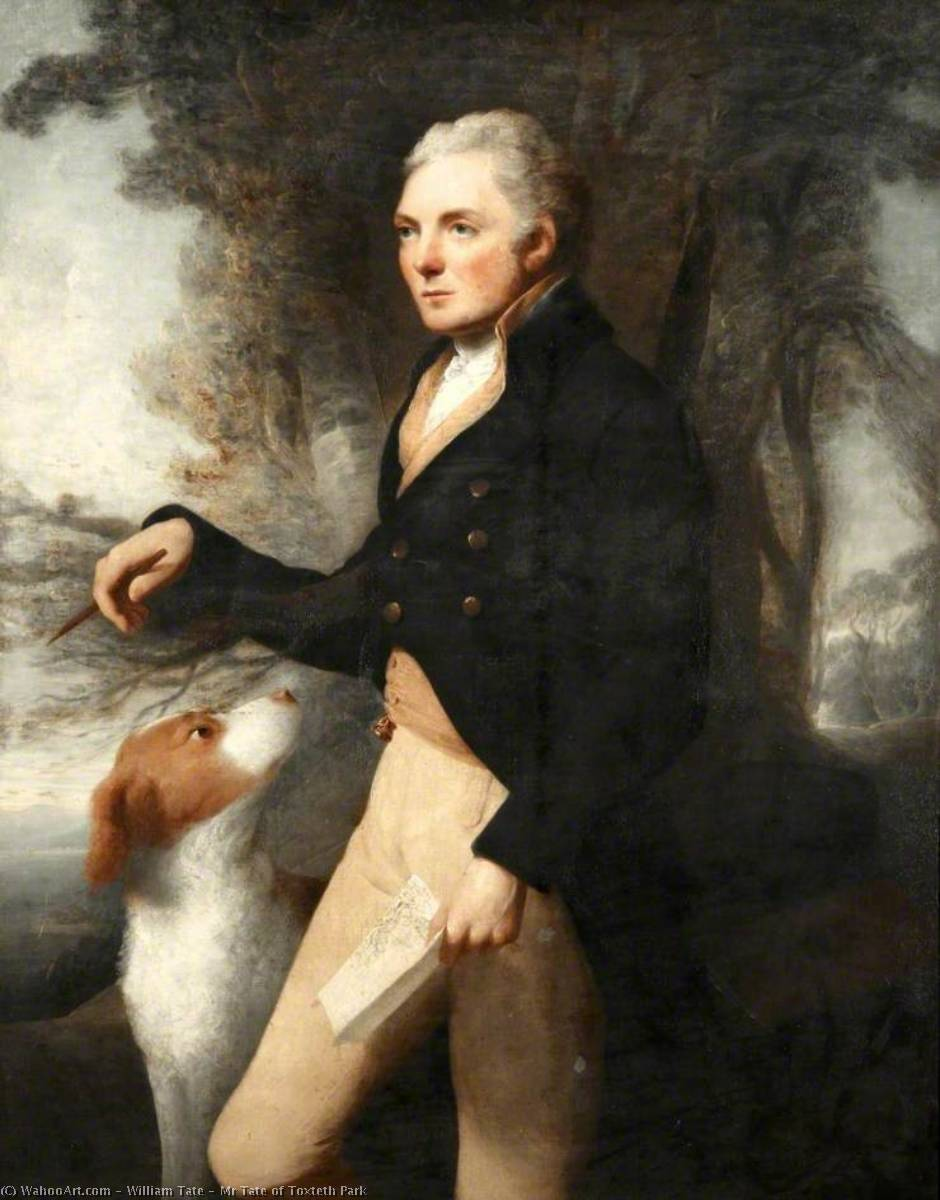 Order Paintings Reproductions | Mr Tate of Toxteth Park, 1800 by William Tate | WahooArt.com