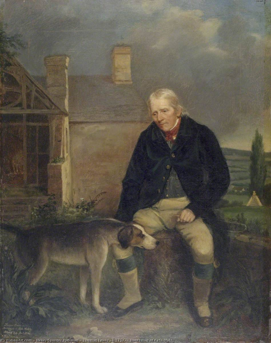 Thomas Lewis (b.1757), Huntsman of Cefn Mably by Henry Spurrier Parkman | Museum Quality Copies Henry Spurrier Parkman | WahooArt.com