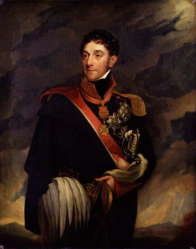 Stapleton Cotton, 1st Viscount Combermere, 1825 by Mary Martha Pearson | Art Reproduction | WahooArt.com