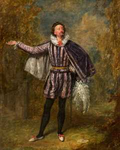 Henry Andrews - William Pleater Davidge as Malvolio in 'Twelfth Night' by William Shakespeare