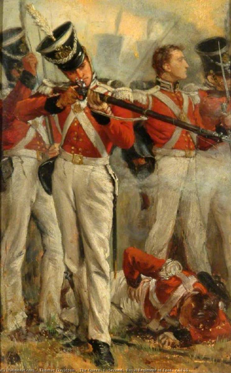 The Queen's (Second) Royal Regiment of Foot, c.1830, Oil On Canvas by Thomas Davidson