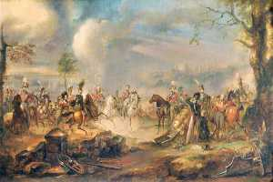 Peter Edward Stroehling - George IV and the Duke of Wellington at a Review at Windsor