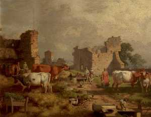 William Malbon - Farmyard Scene