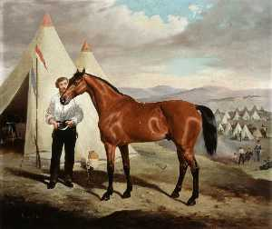 Alfred Frank De Prades - 'Sir Briggs', Horse of Lord Tredegar, 17th Lancers, (ridden at Balaclava, 1854, in camp in the Crimea), 1854