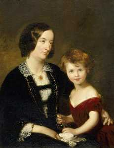 Charles Albert Ludovici - Rhoda Susan Willis (1809–1873), Lady Elton, and Her Daughter Mary Agnes Elton (1844–1926), Later Lady Elton