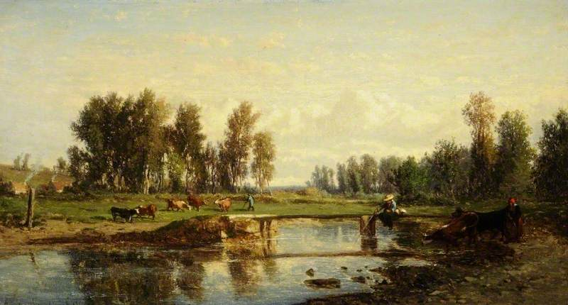 Landscape, 1866 by Emile Charles Lambinet | Painting Copy | WahooArt.com