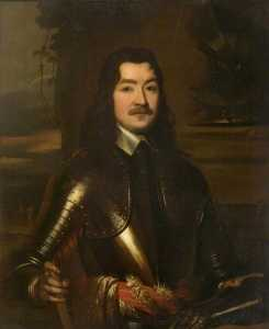 John Lewis Reilly - Sir Charles Lucas, Leader of the Royalist Forces at the Siege of Colchester (after William Dobson)