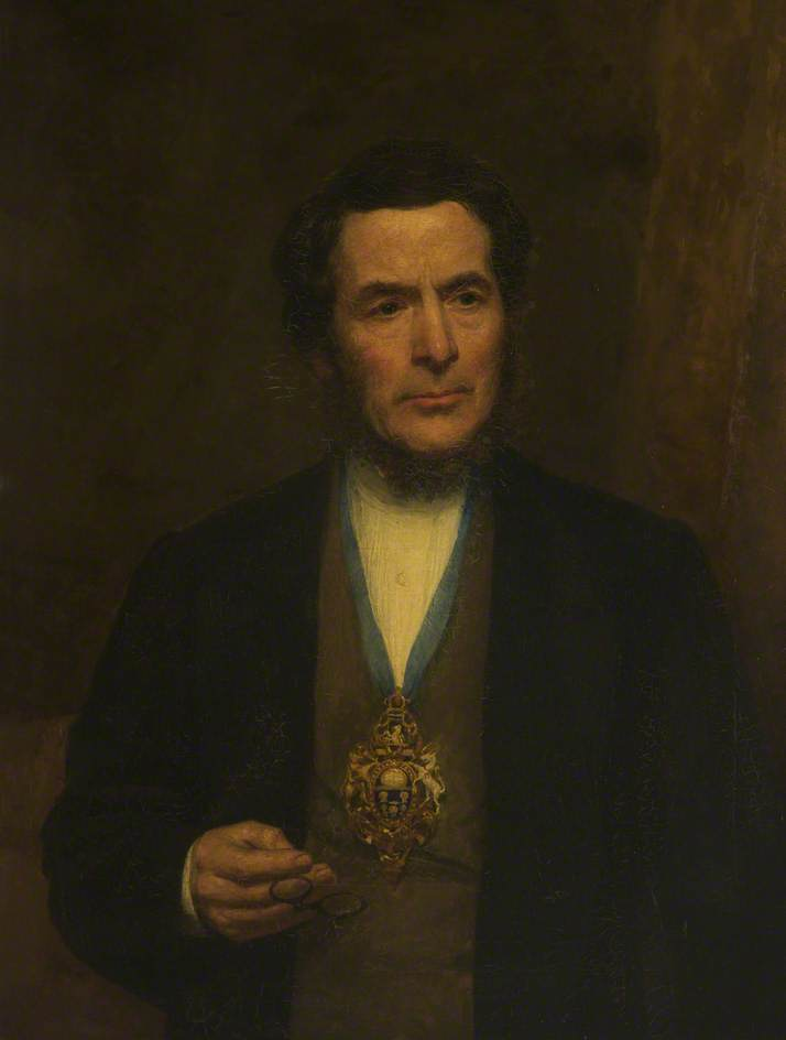 Alderman Thomas Davies, JP, Oil On Canvas by Henry Measham