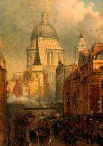 John O'connor - St Paul's from Ludgate Hill