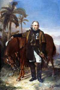 Edwin Williams - Lieutenant General Sir Charles Napier (1782–1853), and his Arab Charger -Red Rover-