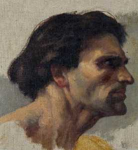 Charles William Mitchell - Study of a Head