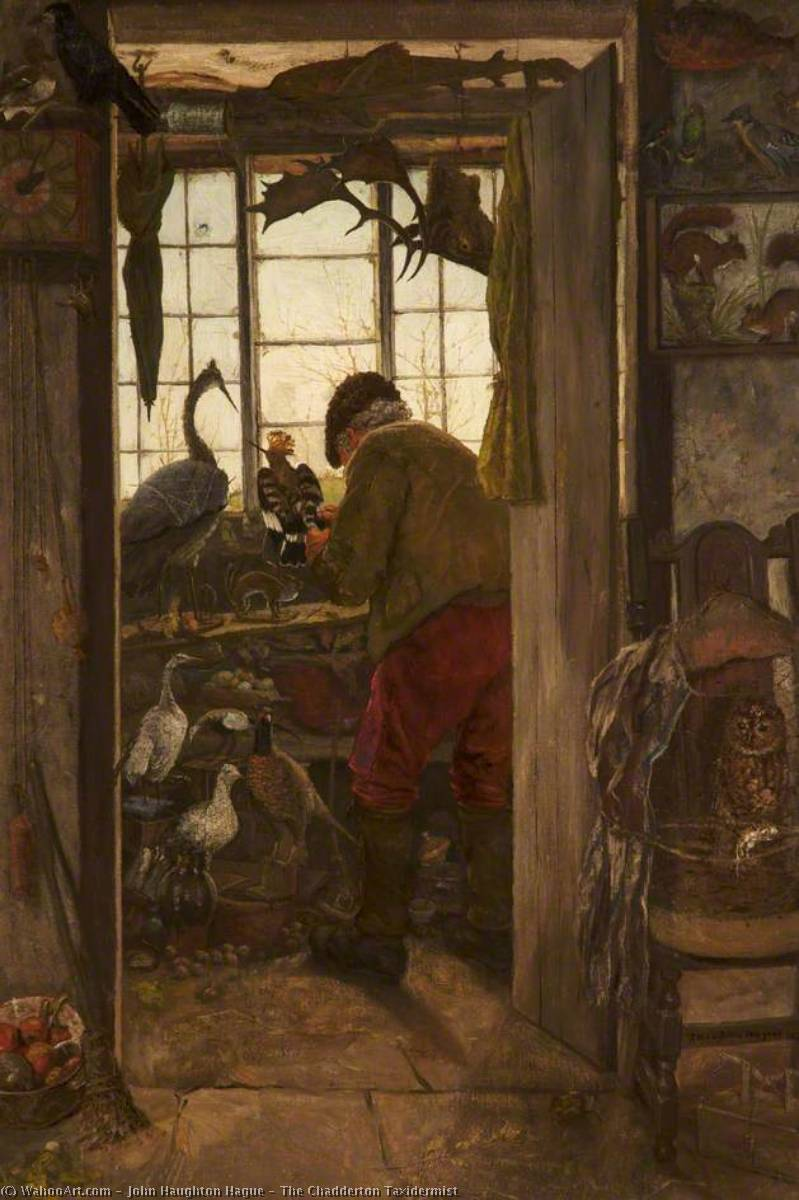 The Chadderton Taxidermist, 1875 by John Haughton Hague | Museum Quality Reproductions | WahooArt.com