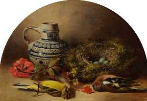 William Duffield - Still Life with Bird's Nest