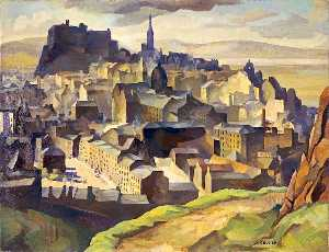 William Crozier - Edinburgh (also known as Edinburgh(From Salisbury Crags)