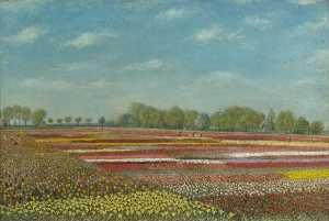 Alfred Balding - Bulbfields at Newton, Norfolk