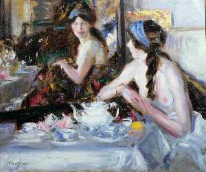 Francis Campbell Boileau Cadell - The Mirror