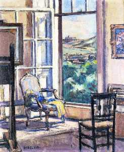 Francis Campbell Boileau Cadell - Interior, The Open Wiindow