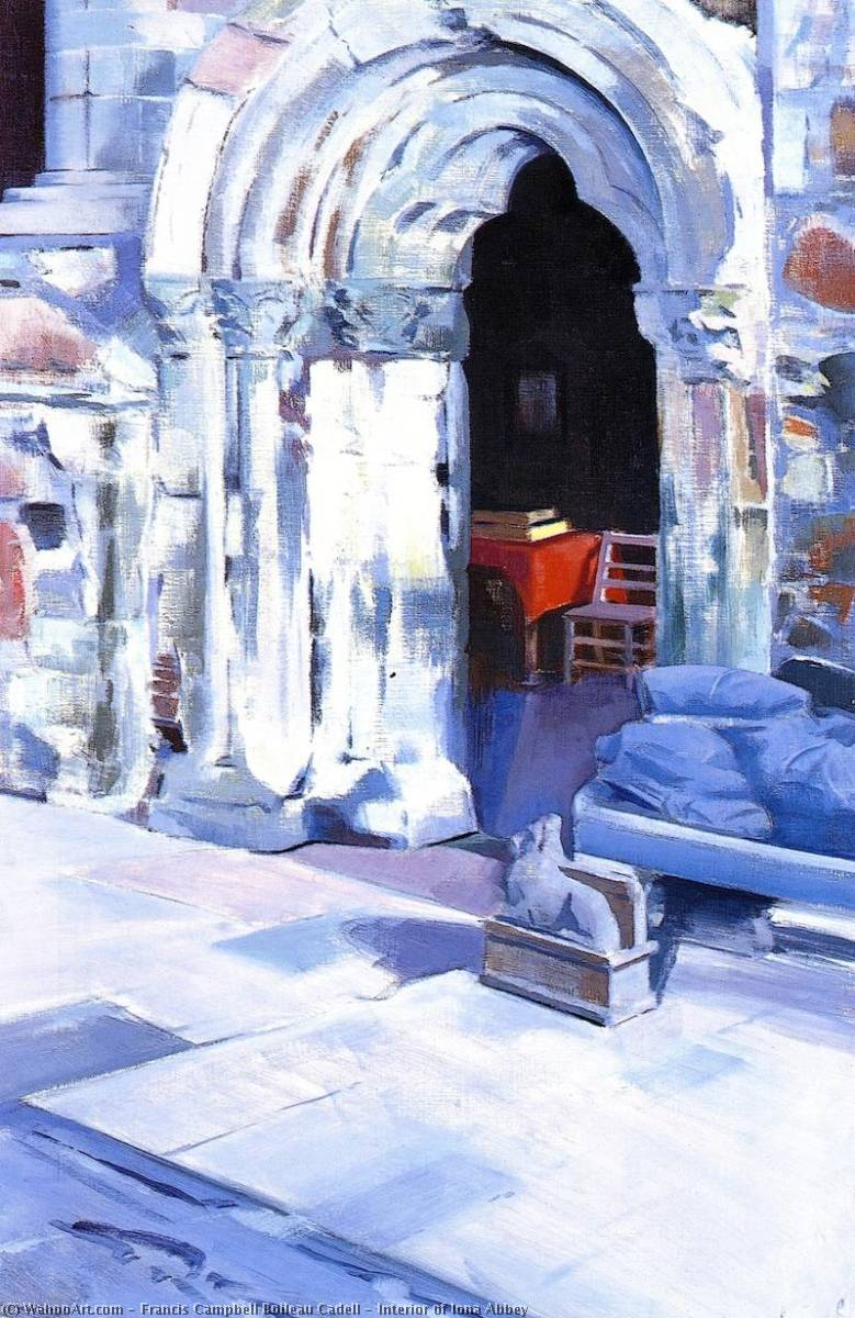 Interior of Iona Abbey, Oil On Canvas by Francis Campbell Boileau Cadell (1883-1937)