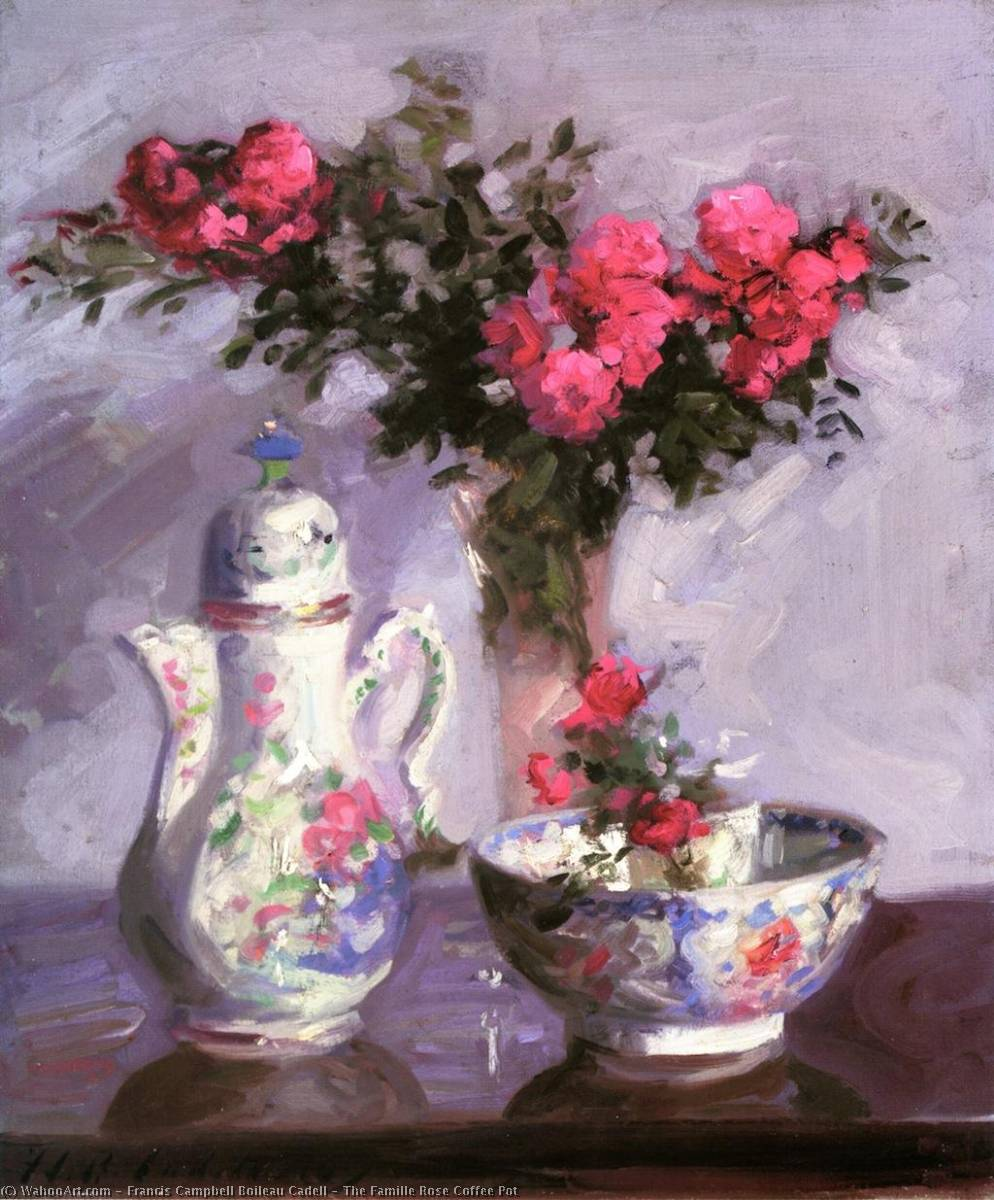 The Famille Rose Coffee Pot, 1911 by Francis Campbell Boileau Cadell (1883-1937) | Art Reproduction | WahooArt.com