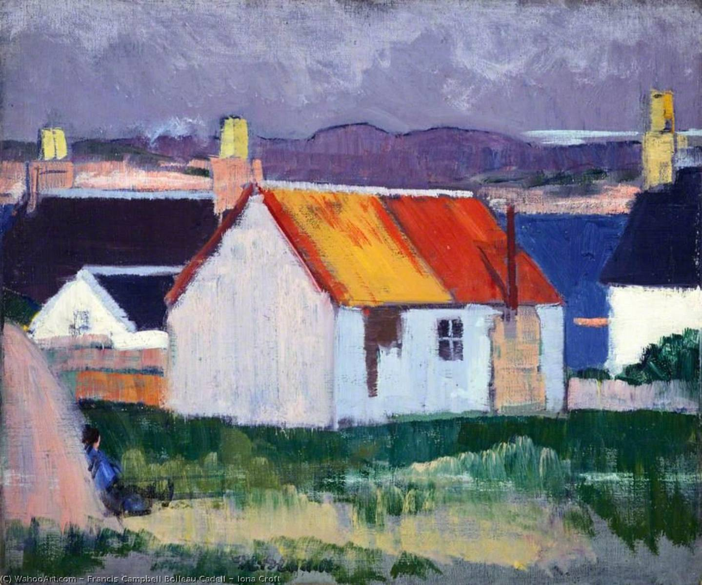 Iona Croft, Oil On Canvas by Francis Campbell Boileau Cadell (1883-1937)