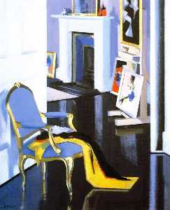 Francis Campbell Boileau Cadell - The Gold Chair