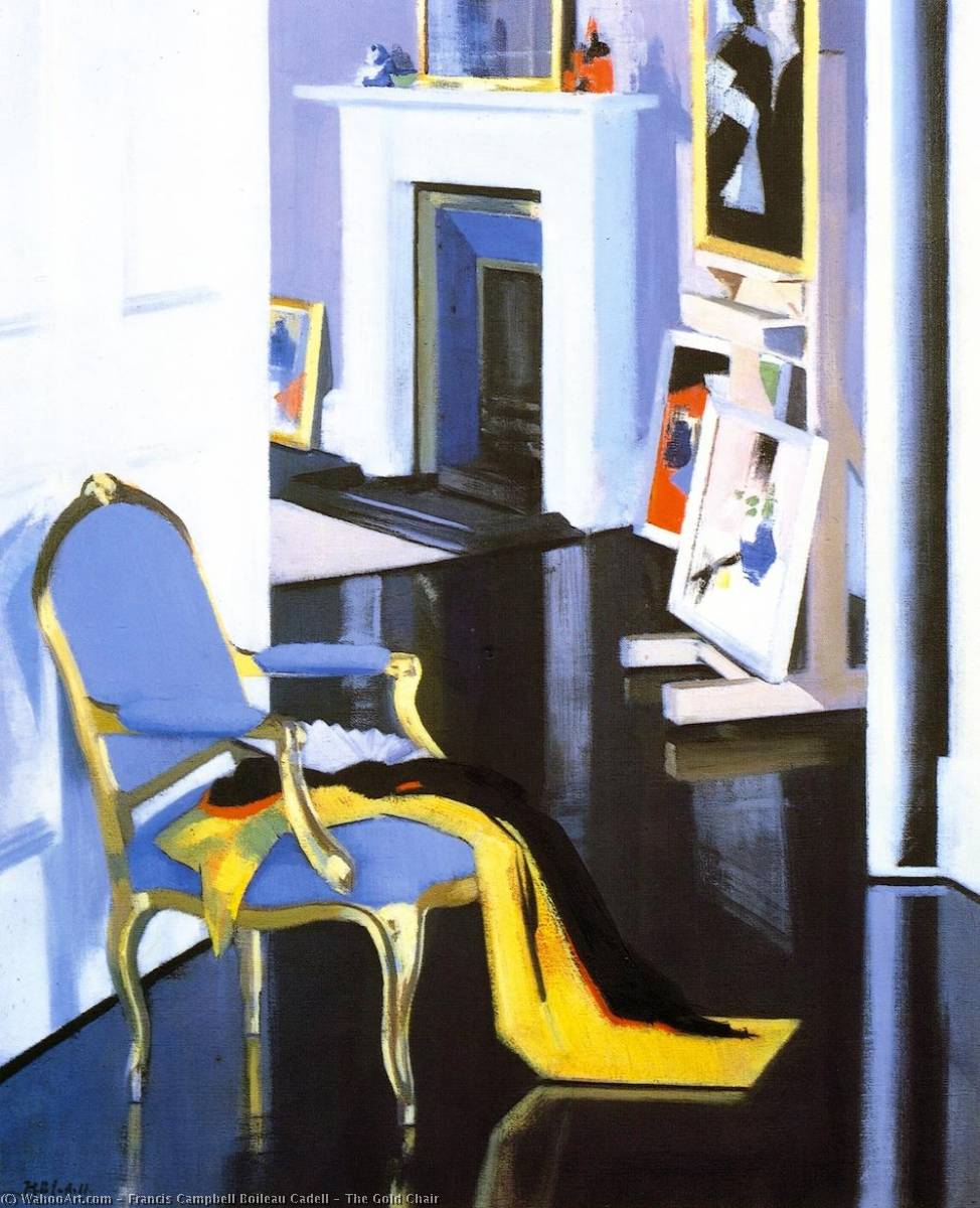 The Gold Chair, Oil On Canvas by Francis Campbell Boileau Cadell (1883-1937)