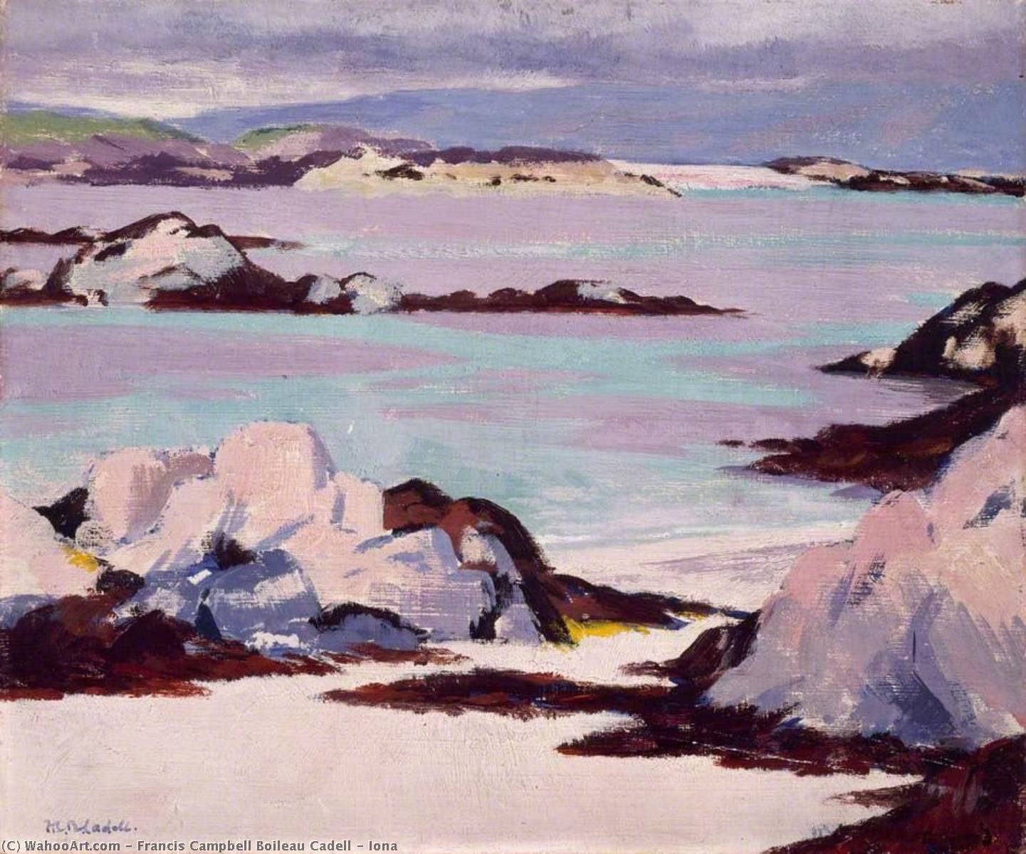 Iona, 1925 by Francis Campbell Boileau Cadell (1883-1937) | Oil Painting | WahooArt.com