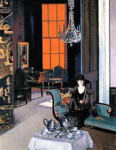 Francis Campbell Boileau Cadell - Interior The Orange Blind